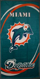Miami Dolphins 30X60 Licensed Official Beach Towel NFL Pro Football