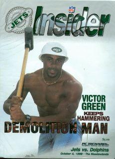1998 New York Jets vs Miami Dolphins Program Victor Green Dan Marino