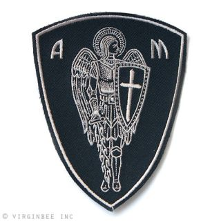 Archangel St Michael Cross Shield Saint Christian Biker Rider