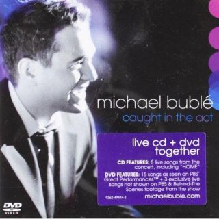 MICHAEL BUBLE~~~CAUGHT IN THE ACT~~~CD & DVD SET~~~NEW