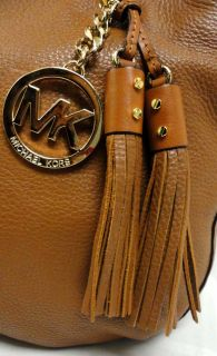 Authentic Michael Kors Medium Brown Leather Tote Bannet Handbag MSRP $