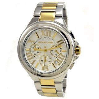 Michael Kors MK5653 Womens Camille Mid Size Silver Dial Two Tone