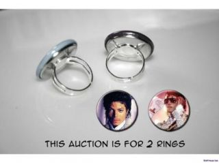 Michael Jackson Shine Set of 2 Adjustable Rings