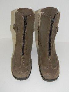 Aquatalia by Marvin K MIA Khaki Tan Suede Weatherproof Ankle Boots Sz