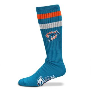 Miami Dolphins Aqua NFL Retro Tube Sock