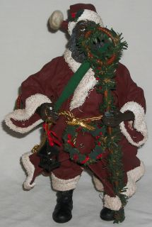 Cracker Barrel Santa African American AA Holiday Christmas Decoration