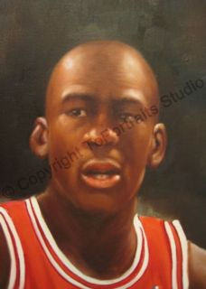 Michael Jordan Chicago Bulls Poster Canvas Oil Painting
