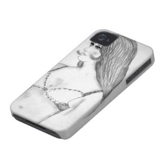 Retro 70s Bikini Girl Case Mate iPhone 4 Cases