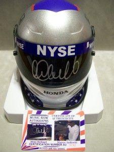 Marco Andretti Augtographed Mini Helmet NASCAR NYSE