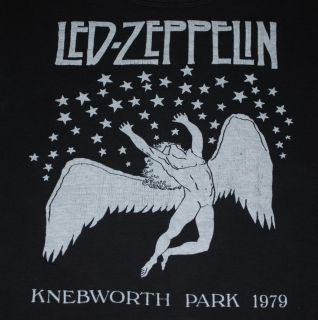 RARE Vintage LED Zeppelin Knebworth Park Shirt 1979 M