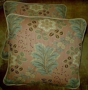 Michael Smith Hemp Fabric Custom Decorator Throw Pillows New 2 Pair