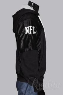 Oakland Raiders Mesh Jersey Hoodie 4XL Official NFL Black Gray