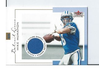 Mike McMahon Future Swatch Game Used Jersey Card 2001 Fleer Genuine