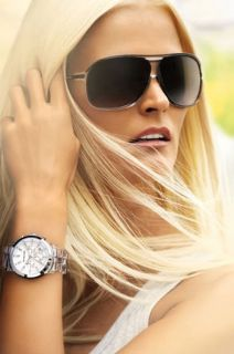 Michael Kors Ladies Showstopper Chronograph Watch Clear MOP Crystal