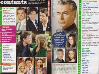 The Young and the Restless Michael Damian   April 23, 2012 Soap Opera