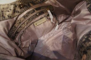 Michael Kors Moxley Medium Python Shoulder Tote Bag $428