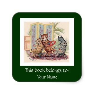 Three Falling Cats by Louis Wain stickers by AnthroAnimals