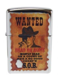 Wanted Poster Dead or Alive High Polish Chrome Windproof New
