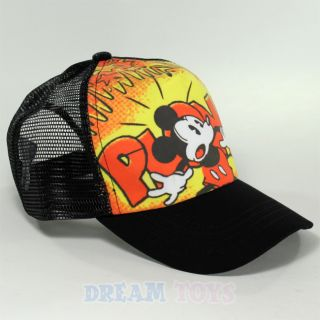 Disney Mickey Mouse Plonk Kids Baseball Cap Hat Velcro Adjustable Boys