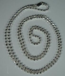 Sterling Silver Italy 925 Chain for Pendant Dog Tag Mens Long