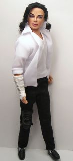 OOAK Michael Jackson Tribute Doll Art Repaint by Artist Pamela Reasor