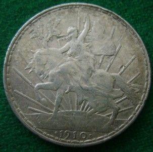 1910 Mexico Silver 1 Peso Caballito Mexican Coin