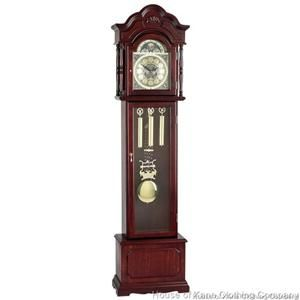 Stately Edward Meyer Grandfather Clock Bevelled Glass