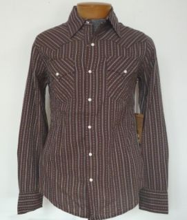 True Religion $132 Formosa Brown Mick Dobby Western Shirt XXL 2XL New