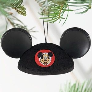 Disney 2011 Mouseketeer Mickey Mouse Ear Hat Ornament New