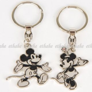 Mickey Mouse Keychain Key Chain Ring 2pcs Couple E1G17O