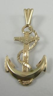 Michael Anthony 14k Yellow Gold Anchor Charm Pendant