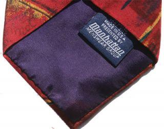 1991 Beatles Tie Collection Michelle Crape Silk Necktie Rarely