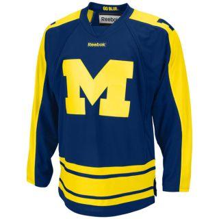Michigan Wolverines Navy Adidas Great Lakes Invitational Hockey Jersey