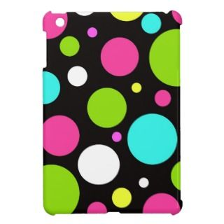 Neon Polka Dots iPad Mini Case