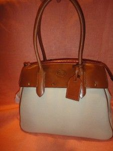 DOONEY & BOURKE WILSON LARGE LEATHER SATCHEL BAG/PURSE OL673 BONE