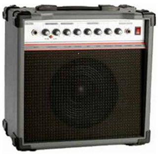 20 watt bass amp 4 control knobs volume treble middle bass 8 speaker