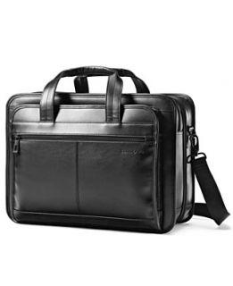 Samsonite Expandable Brief, Leather Laptop Friendly Business Case
