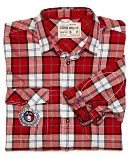 Nautica Big and Tall Shirt, Plaid Double Pocket Shirt