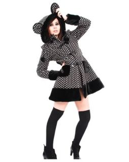 Hell Bunny Mika Coat Jacket Cute Ears Pompoms Kawaii