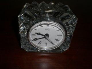 Mikasa Crystal Battery Operated Desk Table Clock