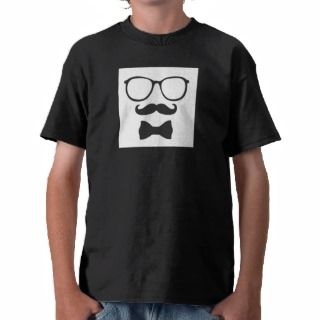 Mustache Hipster Bowtie Glasses Tee Shirts