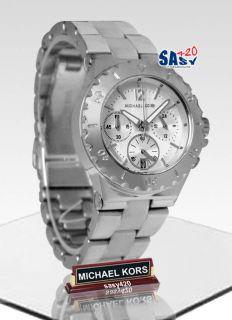 Michael Kors MK5498 Chronograph Silver Tone Women Watch New