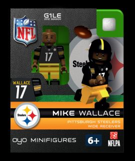 Mike Wallace Oyo Mini Fig Figure Lego Compatible Pittsburgh Steelers