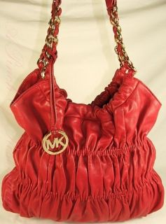 Michael Kors Webster Leather LG Shoulder Bag Purse $398