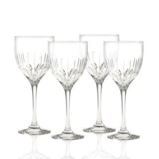 Mikasa Arctic Lights Modern Crystal Wine Glasses 4