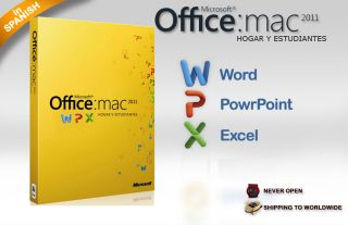 Microsoft Office for Mac 2011 Spanish Home Students