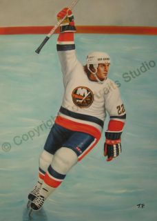 Mike Bossy New York Islanders NHL Canvas Oil Painting