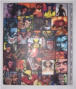 Wolverine Files A Color Illustrated Hard Book by Mike w Barr