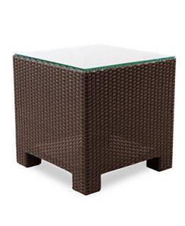 Antigua Wicker Patio Furniture, Outdoor End Table