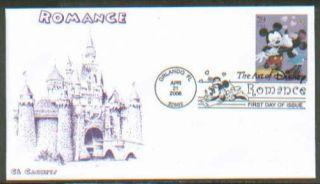 2006 Romance Disney Mickey Mouse CL FDC Set 4